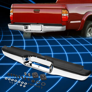 Stainless Steel Replacement Rear Step Bumper Face Bar Fits 95 04 Toyota Tacoma