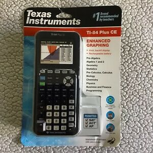Texas Instruments Ti 84 Plus Ce Graphing Calculator Black Sealed Nib