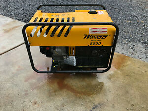 Winco Industrial Generator 5000 114hrs Watts 4500 120 240v 9hp 3600rpm
