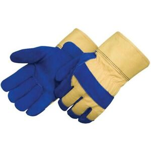 Liberty 3656 Thermo lined Split Cowhide Insulated Water proof Work Gloves Lg xl