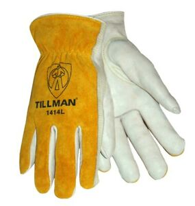 Tillman 1414 Drivers Work Gloves Top Grain Pearl Cowhidesplit Leather Back Xs xl