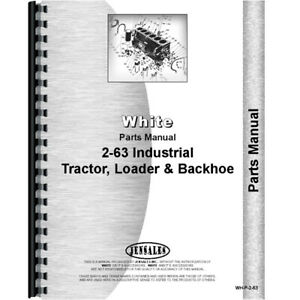 Parts Manual For Oliver 2 63 White 23043 Tractor