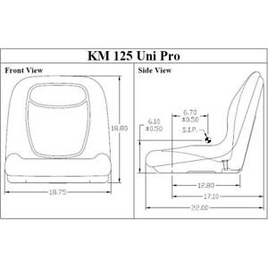 Seat W Hole For Drain Operators Presence Switch For Bobcat Skid Steer Loader