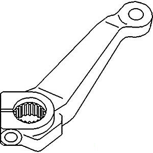 Right Hand Steering Arm Sba334521670 For Ford New Holland Compact Tractor 2110