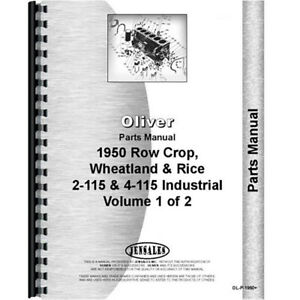 White 2 115 Tractor Parts Manual