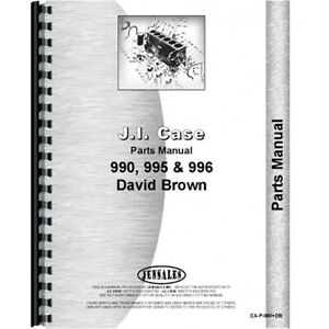 Parts Manual For Case 990 Tractor sn 11070001 And Up diesel