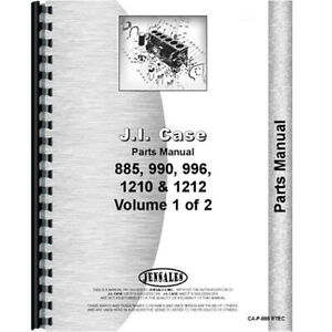 Parts Manual For Case 996 Tractor sn 0 11070000 diesel