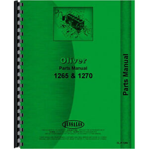 Oliver 1265 Tractor Parts Manual utility Orchard Fwa