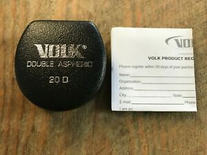 Brand New Volk 20d Double Aspheric Indirect Ophthalmoscopy Lens Fundus