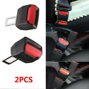 2pcs Car Seat Belt Clip Extender Support Buckle Safety Alarm Stopper Canceler