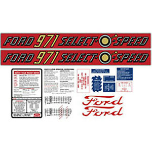 Ford Tractor 971 Select O Speed Complete Decal Set