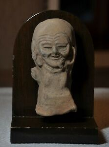 Ancient Hellenistic Grotesque Figure Old Person With Wrinkles 300 200bc