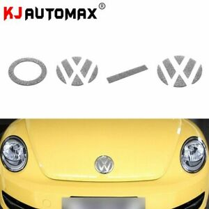 For Volkswagen Beetle Bling Crystal Emblem Sticker Car Styling Accessories Decor