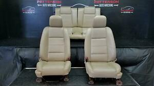 2005 Ford Mustang Front Rear 6 Way Power Seat Leather Tan Pebble Trim Code Jh