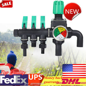 New 2 Mpa Agricultural Sprayer Control Accessory 3 Way Water Splitter Valve Us