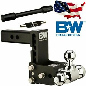 B W Hitches Ts20048b Adjustable Tri Ball Hitch Mount 5 8 Receiver Hitch Lock