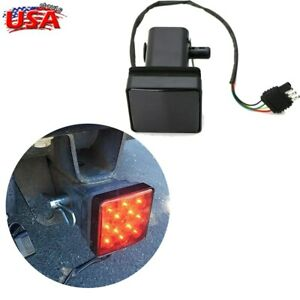 2 Trailer Truck 15 Led Brake Light Hitch Towing Receiver Cover Cover W Pin Us