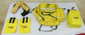 Fss Forest Service Yellow Wildland Firefighter Backpack W 2004 Fire Shelter