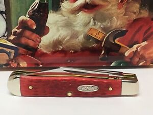 CASE XX COCA COLA SANTA RED SMALL COKE BOTTLE POCKET KNIFE 6225 1/2 It 64700 JM