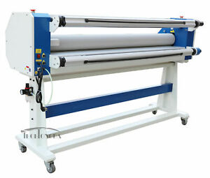 63in Stand Frame Full auto Single Side Wide Format Hot cold Laminator Office New