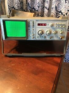 Hp 853a 8559a Spectrum Analyzer Display And Plug In 0 01 To 21ghz Bandwidth
