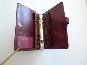 Filofax Leather Planner Made In England Classic Vintage Model 4clf 7 8