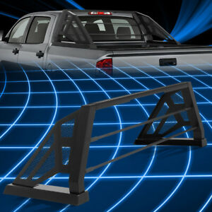 For 09 18 Ford F150 Truck Bed Matte Black Aluminum Chase Rack Roll Bar Cage