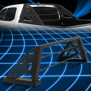 For 04 14 Chevy Colorado Truck Bed Matte Black Aluminum Chase Rack Roll Bar Cage
