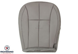 01 04 Grand Cherokee Limited driver Side Bottom Leather Seat Cover Taupe Gray
