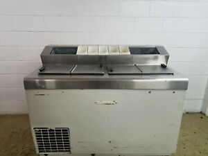 Hussman 8 hdf Ice Cream Dip Cabinet 115 Volts 1 Phase Tested