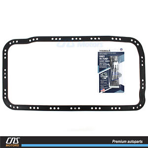 Engine Oil Pan Gasket W Silicone For 90 01 Acura Integra Cr V Civic Del Sol