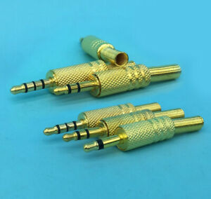 3 5mm 1 8 Stereo Mono Male Audio Trs Gold Plated Jack Plug Adapter Connector