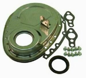 Raw Sbc Chevy Timing Chain Cover W Large Tab Kit