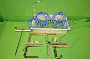 Pilling Ent Lot Of Mediastinoscopes And Fiber Optic Light Cables