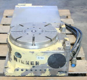 12 6 Nikken Cnc321 Cnc Horizontal Vertical Rotary Table Indexer 4th 5th Axis