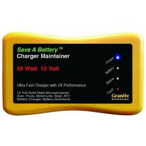 Battery Saver 12v 50w Battery Charger Maintainer Cleaner 2365