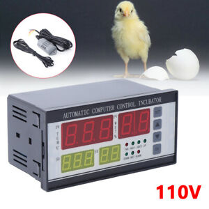 110v Digital Automatic Incubator Temperature Humidity Controller Usa Stock