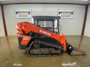 2016 Kubota Svl 75 2 Track Skid Steer Loader Orops 2 speed
