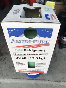 R 22 Refrigerant Sealed 30 Lb Cylinder Please See Description Before Purchase