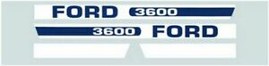 F509h1 Blue Hood Decal Set Made To Fit Ford New Holland Tractor 3600