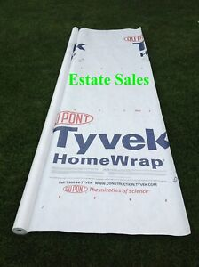 4 X 8 Ft Tyvek House Wrap Paper Underlayment Siding Wall Insulation Mold Protect
