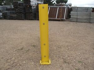 Bolt On Safety Guard Rail I beam Posts With 8 X 6 X 5 8 Steel Plate Used