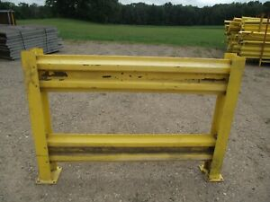 One 5 X 42 Bolt On Section Of Safety Guard Rail Complete W i beam Posts Used