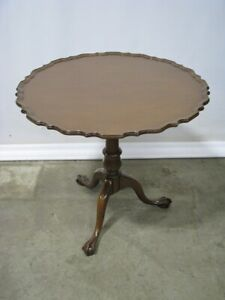 Chippendale Kittinger Furniture Birdcage Revolving Top Mahogany Tea Table Mint
