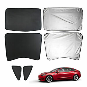 Car Window Sun Shades Sunroof Screen Shade Mesh Curtain For Tesla Model 3