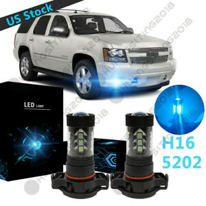 Ice Blue 5202 H16 Led Fog Light Bulb Drl Bl For Chevy Tahoe 2007 2008 2009 2015
