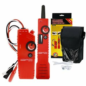 Anti jamming Cable Tracker Detector Tester Wire Locator Rechargeable Battery