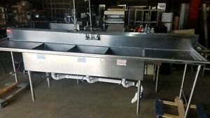 American Delphi Three Compartment Sink Us Made Sink Heavy Duty Stainless Steel