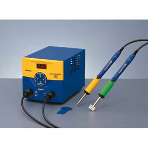 Hakko Fm203 dp Esd safe Dual Port Soldering Station With Two Fm2027 Soldering