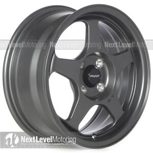 Circuit Cp22 15x6 5 4 100 35 Flat Gun Metal Wheels Fits Mazda Miata Spoon Style